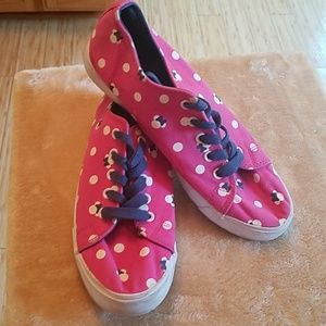 Women's Disney Minnie Mouse Head Sneakers Size 8